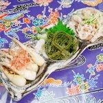 侍ちゃんぷる - お好きな珍味を3種盛りで【沖縄珍味3種盛り】