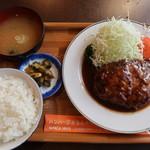 三福亭 - ハンバーグ定食(230g):1100円
