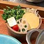 しゃぶしゃぶ KINTAN - おかわり野菜