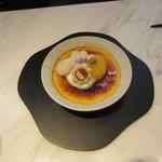 シセイドウ ザ テーブルズ - 白味噌のクレーム・ブリュレ 季節の果実添え 800円+Tax