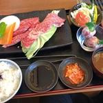 大剛   - 料理写真:極上焼肉ランチ (極上ロース、特選カルビ、デザート) 2,590円