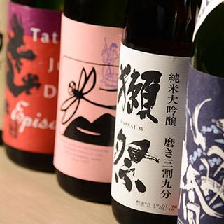 各地の蔵元から厳選した日本酒や焼酎をお楽しみください♪