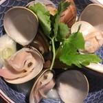 蛤の日本酒蒸し