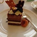 レ レーヴ サロン・ド・テ - 料理写真:ケーキセットのチョコケーキ