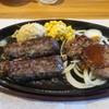 ブロンコビリー - 料理写真:極み炭焼きブロンコハンバーグ&炭焼きサーロインステーキコンビセット(ミディアム)
