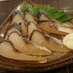 和鮮酒庵 やなぎ - トビウオの燻製(´- `*)