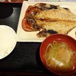 中村橋の漁師のあぶり家 - 金目鯛の開き定食