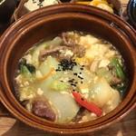 ジーン カフェ - 豚ばら肉とくずし豆腐の野菜あんかけごはん。これ食べるべきー