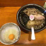 Chuukasobahanada - 小盛にすると、生玉子or味玉or海苔