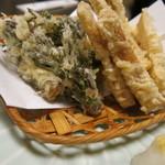 和食、日本料理「南房」 - 天然山菜天 タラノメ・ウド