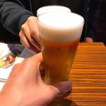 肉バルGAM - 二日酔いなツレと乾杯〜w