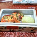 日本料理 晴山 - ☆トキシラズの木の芽焼き