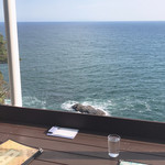 魚見亭 - テラス席からの眺め