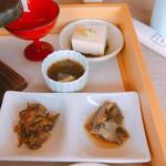 107901046 - サザエ 松前漬 もずく 胡麻豆腐