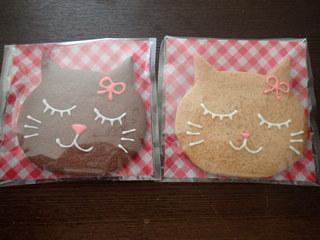 チャオ - にゃん子さんクッキー ココア、プレーン各250円