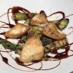 107907666 - 本日の魚料理(カジキのソテー アスパラガス添え)