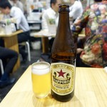 肉家まるまさ - [2019/04]瓶ビール・サッポロ(550円+税)