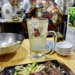 肉家まるまさ - [2019/04]ブラックニッカハイボール(390円+税)