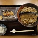 手打ちそば まえかわ - にしん+焼き鯖の押し寿司