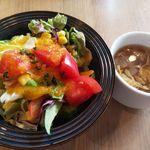 トラットリア バンビーナ - サラダ・スープ(パスタランチセット)