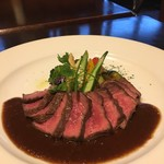 nobu - ブラックアンガス牛ステーキの赤ワインソース