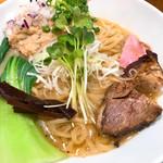 竹末東京Premium - 料理写真:鶏ホタテそば 見た目よりもスープあります このスープがウマー(´∀`*)