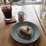 チル キッチン - バナナタルト&水出しアイスコーヒー