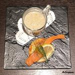 Yui - バルダーヌのポタージュと桜鱒のスモーク