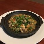 nobu - 黒つぶ貝とマッシュルームの香草パン粉焼き