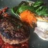 オリーブ食堂 orukat - 料理写真:淡路牛ハンバーグ