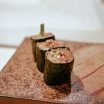 鮨 銀座 おのでら - ☆赤貝のヒモと胡瓜巻き