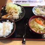 麺'ズ冨士山 - 日替 生姜焼き定食