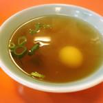宝来軒 - 焼めしに付いているスープ