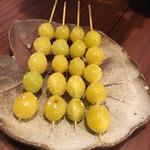 かんむり - 銀杏美味しい。銀杏は新潟の農家のだそうです。