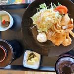 タカガワ西徳島ゴルフ倶楽部 - 生姜焼き定食