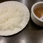 クラーク亭 - セットのご飯とスープ