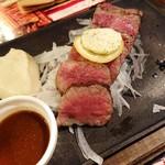 炭火とチーズ NIKUBAKA - 飛騨牛極上ステーキ(150g)(1,680円)