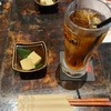 源喜 - ドリンク写真:烏龍茶とおとおしのかに味噌豆腐