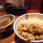 麺屋武蔵 二天 - 鶏天つけ麺 中 880円