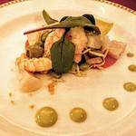 マゼランズ - 前菜  シュリンプと帆立貝のマリネ