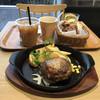 ブーランジェリーパティスリー アンド アンティーク - 料理写真:鉄板プレートランチ(ハンバーグ、プレーン)