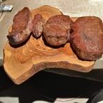 107988041 - 神戸牛炉窯ステーキ:神戸牛のシャトーブリアン、ランプ、イチボ