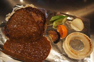 ビフテキのカワムラ 三宮店 - 神戸ビーフハンバーグランチ 2310円