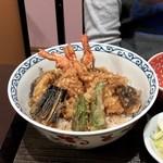 お花坊 - 料理写真:海老天丼の膳