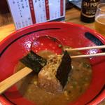 Ebisobaichigen - スープにえびおにぎりを投入 即席リゾット