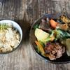 cafe wasugazen  - 料理写真:タケノコご飯に、旬菜のおかず