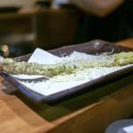 天ぷらとワイン 小島 - ☆アスパラ 290円