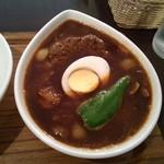スープカレー屋 鴻 - 黒で国産牛100%手作りハンバーグ辛さ1