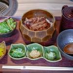 柳橋焼にく わにく - ■肉まぶしランチセット 1500円