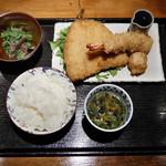 NANAYA GINZA - アジフライ海鮮定食